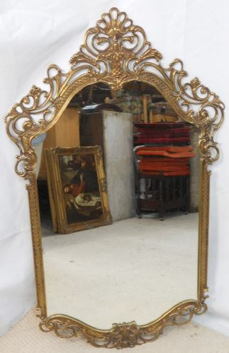 Ornate Brass Framed Hanging Wall Mirror